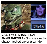 HOW I CATCH REPTILIAN SHAPESHIFTERS